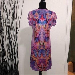 Emerald Brand Purple & Pink Butterfly Dress